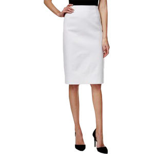 10 White Straight Pencil Skirt NEW w/ tags